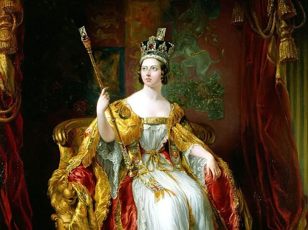 State portrait of Queen Victoria, 1860, oil on canvas, by...