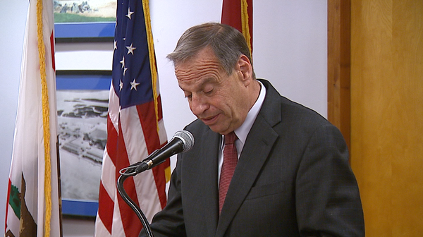 Mayor Bob Filner tells reporters he will enter a behavior...