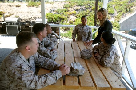 Camp Pendleton marines train to prevent sexual assault.