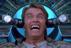 In Total Recall, Arnold Schwarzenegger's character tries to buy an artificial...
