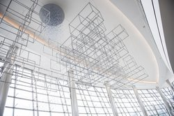 "Stuart Keeler's ""Taxonomy of a Cloud"" will hang over the new food court in Terminal Two."