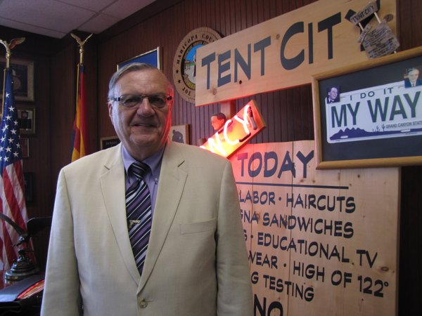 Tent City has become a symbol of Sheriff Joe Arpaio's law...
