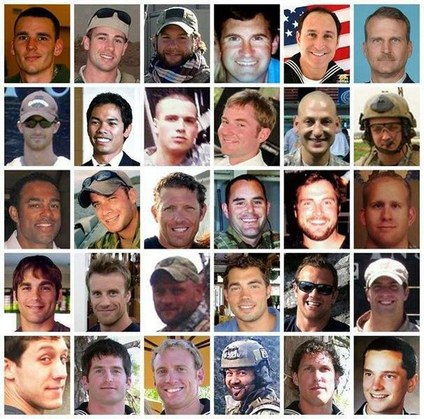 Faces of 30 U.S. troops killed in Chinook crash on August 6, 2011.
