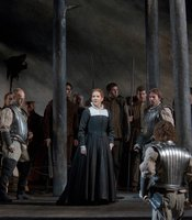 "Joyce DiDonato as the title character of Donizetti's ""Maria Stuarda."""