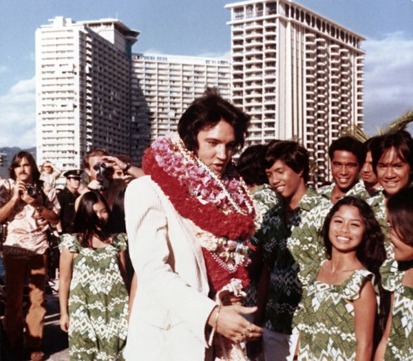 Elvis and fans, Hawaii. Elvis Presley made television his...
