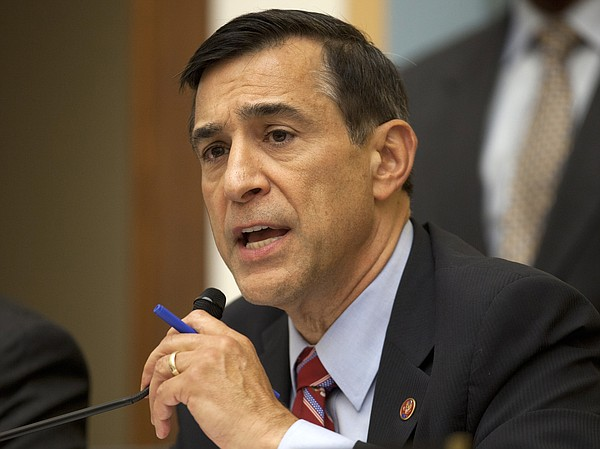 California Rep. Darrell Issa, chairman of the House Oversight Committee, ques...