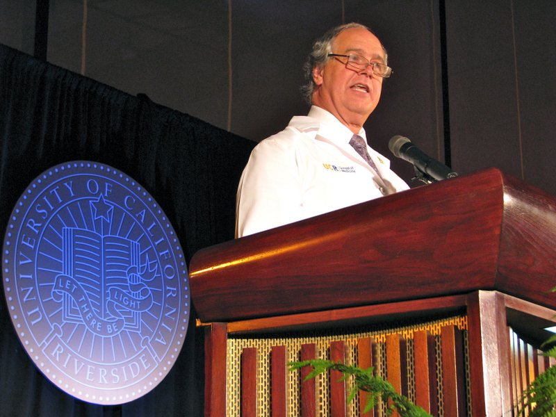 The dean of UC Riverside's new medical school, G. Richard Olds, said students...