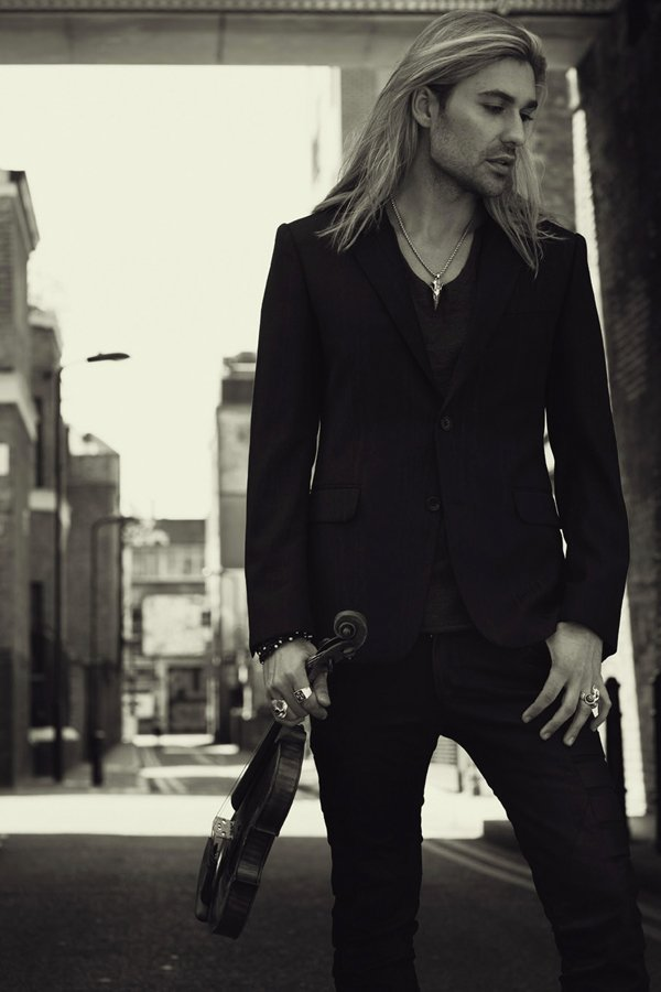 Violin virtuoso David Garrett (pictured), joined by his band and the Neue Phi...