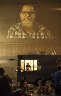 The kosher taco experience compliments a video exhibit by El Paso artist Pete...