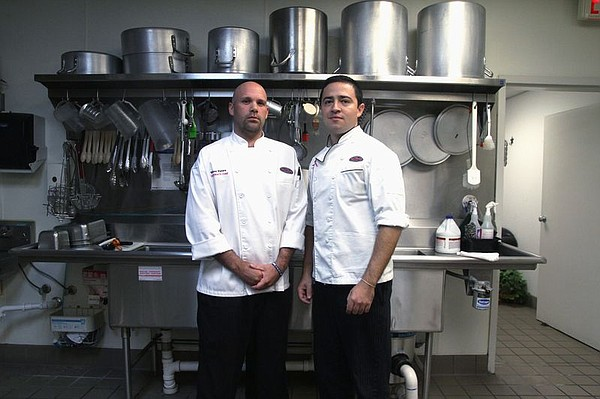 Taco Cabana Corporate Chefs Smokey Waters and Diego Galicia.