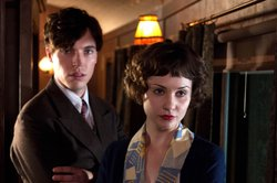 "Tom Hughes as Max and Tuppence Middleton as Iris Carr. A young socialite suspects foul play when a woman inexplicably disappears from a train, in a stylish and suspenseful new adaptation of the classic thriller ""The Lady Vanishes."""