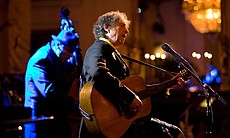Bob Dylan performs in the East Room of the White House, 2010.