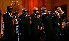 The Blind Boys of Alabama perform in the East Room of the White House, 2010.