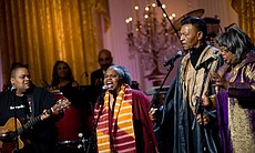The Freedom Singers perform in the East Room of the White House, 2010.