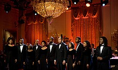 The Howard University Choir performs in the East Room of the White House, 2010.