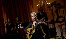 Joan Baez performs in the East Room of the White House, 2010.
