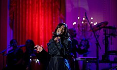 Yolanda Adams performs in the East Room of the White House, 2010.