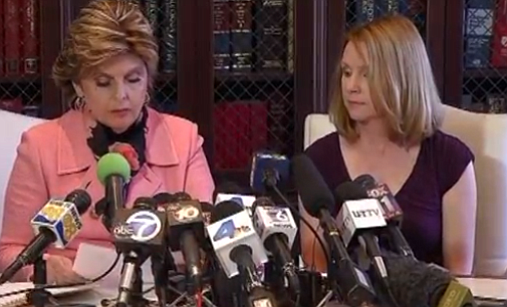 Attorney Gloria Allred and The mayor's ex-fiancee, Bronwyn Ingram at Thursday...