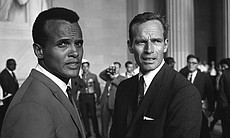Harry Belafonte and Charlton Heston, The March on Washington 1963.