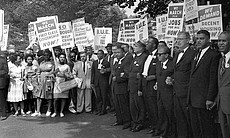 Leaders on March, The March on Washington 1963.