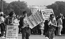 Marchers and White House, The March on Washington 1963.