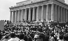 The crowd in front of Memorial, The March on Washington 1963.