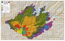 This U.S. Forest map shows the progression of the Rim Fire that began on Aug. 17, 2013 near Yosemite National Park.