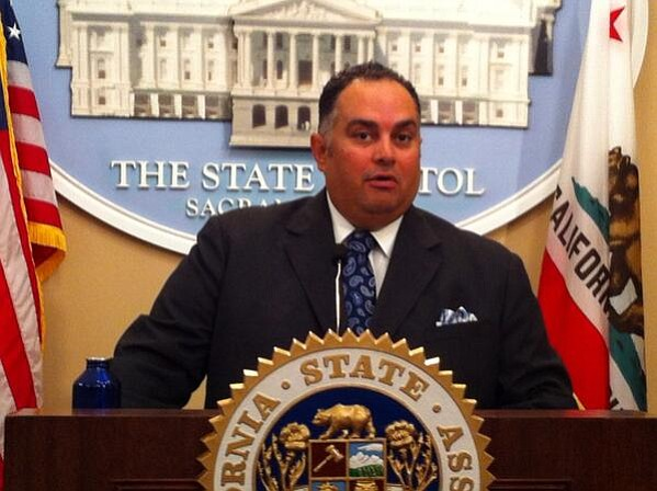 Democratic Assembly Speaker John Perez (D-Los Angeles) meets with media in Sa...