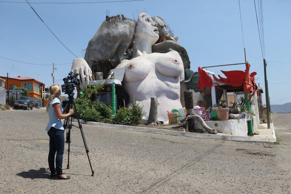 KPBS videographer Katie Euphrat capturing La Sirena (the mermaid), a house so...