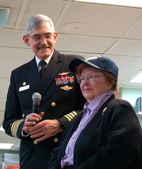 Capt. Kevin Knoop with U.S. Sen. Barbara Mikulski in May 2013