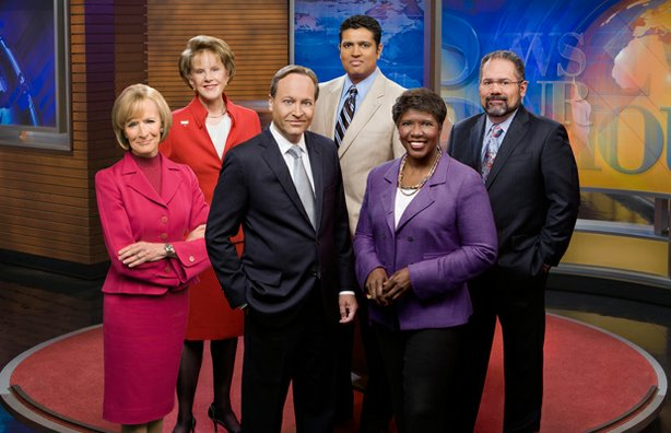 PBS NEWSHOUR correspondents: Judy Woodruff, Margaret Warner, Jeffrey Brown, Hari Sreenivasan, Gwen Ifill and Ray Suarez.