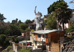 Muñoz built La Mona to honor the centennial of his birthplace, Tijuana, Mexico.
