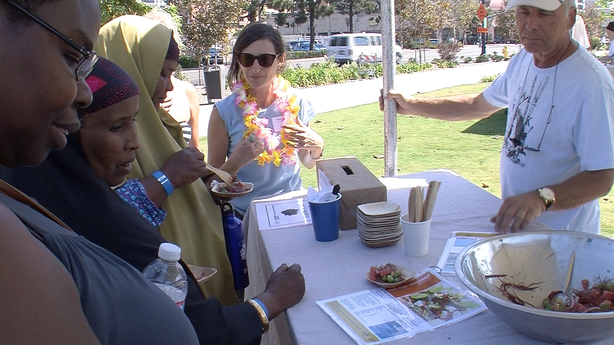 University of San Diego researcher Adina Batnitzky and members of the United Women's East African Support Team have joined fishermen in trying to increase access to local seafood. The refugees, who fled coastal towns in East Africa, say reintroducing fresh fish into their diets would help with the chronic diseases many refugees develop when adapting their diets to the U.S. food system.