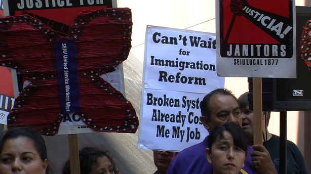 San Diego business, labor and faith leaders rally to try and keep immigration reform on the legislative agenda.