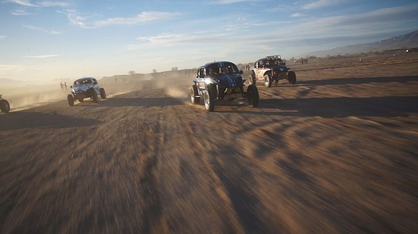 Cars in the Code Off-Road race in Laguna Salada, Baja Cal...
