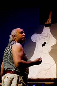 Herbert Siguenza performing A Weekend With Pablo Picasso ...