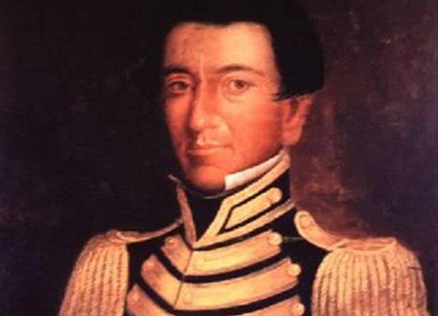Portrait of Juan Seguín, a political and military figure of the Texas Revolution and Republic of Texas. Painting by Thomas Jefferson Wright, 1838.