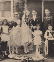 Salvador & Lupe Villaseñor's wedding party. Santa Ana, California, 1929.