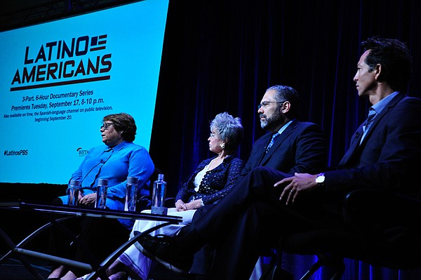 During PBS' LATINO AMERICANS session at the Television Cr...