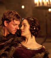 "Joe Armstrong as Hotspur, Michelle Dockery as Kate Percy in THE HOLLOW CROWN ""Henry IV Part I."""