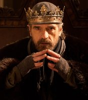 "Jeremy Irons as King Henry IV in THE HOLLOW CROWN ""Henry IV Part I."""