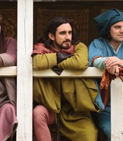 "Samuel Roukin as Bagot, Ferdinand Kingsley as Sir John Bushy and Harry Hadden Paton as Sir Henry Green in THE HOLLOW CROWN ""Richard II."""