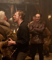 "Simon Russell Beale as Falstaff, Tom Hiddleston as Prince Hal, David Dawson as Edward Poins in THE HOLLOW CROWN ""Henry IV Part One."""