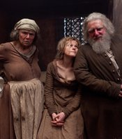 "Julie Walters as Mistress Quickly, Maxine Peake as Doll Tearsheet, Simon Russell Beale as Falstaff in THE HOLLOW CROWN ""Henry IV Part II."""