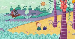 On October 7, 2013, PBS KIDS will premiere PEG + CAT, a new animated preschool series that follows the adorable, spirited Peg (left) and her sidekick Cat (right) as they embark on adventures and learn foundational math concepts and skills. Peg and Cat's adventures take them through worlds of infinite possibilities — from farms to purple planets, to a land of pirates (as seen here) -- demonstrating that math is everywhere.