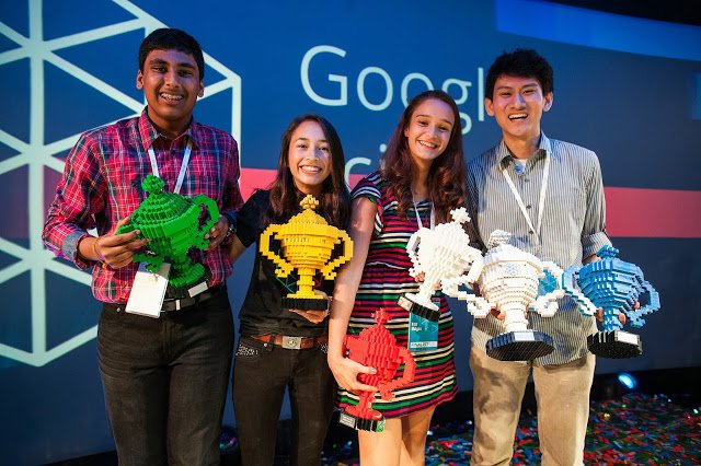 Canyon Crest Academy senior Eric Chen (far right) won this year's grand prize...