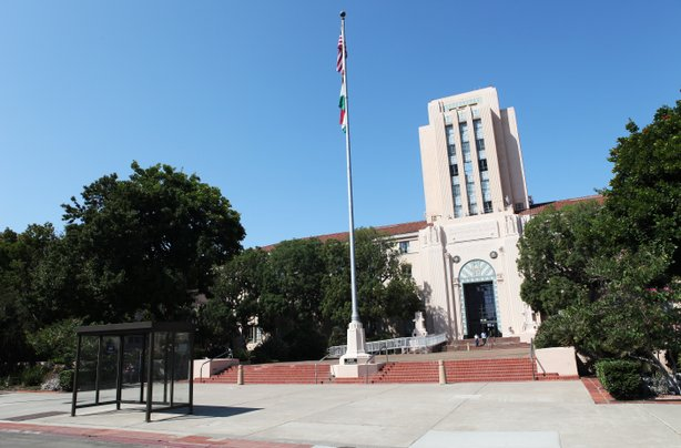 The San Diego County Administration building in downtown San Diego.