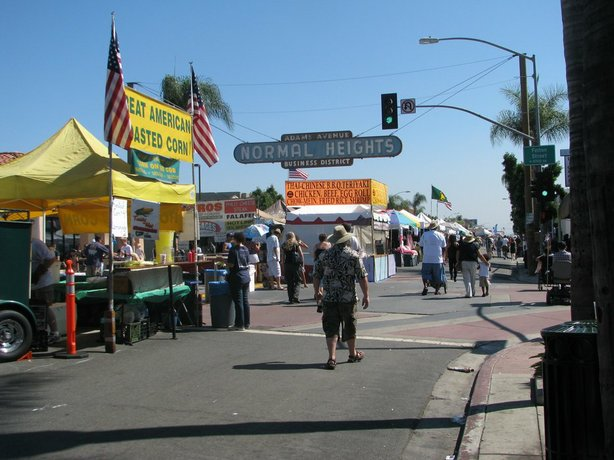 The annual Adams Avenue Street Fair in Normal Heights is the largest free music festival in Southern California.