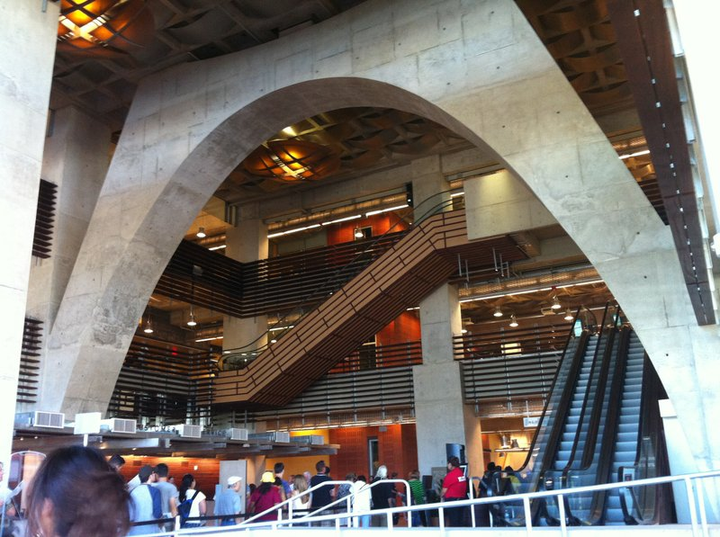 Inside the  Central Library.