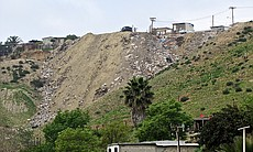 Illegal dump sites proliferate in some of the Tijuana canyons that make up th...